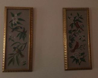 dual leafy bird prints