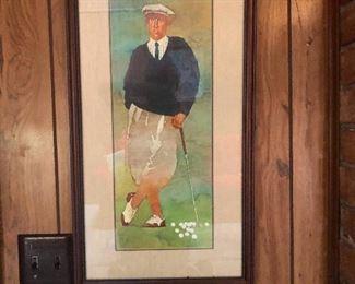 watercolor golf guy