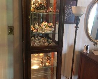 there are lots of display cabinets
