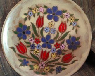 pretty dutch enamel ceramics