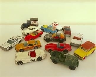 Vintage Hot Wheels and Matchbox diecast cars