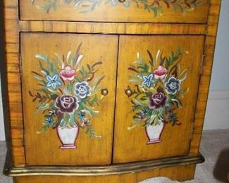 low hand painted cabinet
