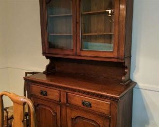 $100    Maple china cabinet
