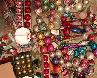 Antique & Vintage Glass Christmas Ornaments, Lots of Shiny Brite