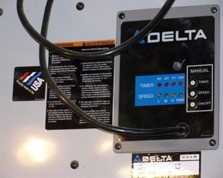 Delta dust vacuum system, ceiling mounted.