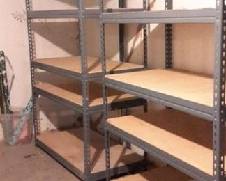 Two garage/basement shelves.