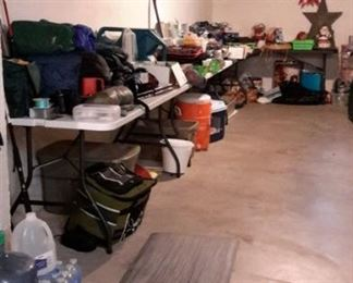 Camping equipment.