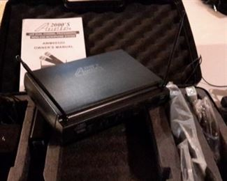 Audio 2000's UHF Dual Channel Professional Wireless Microphone System, in box.
