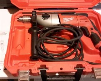 Milwaukee Hammer Drill Kit, in box.