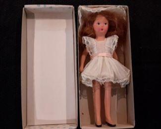 Antique 1940's Kerr & Hinz bisque doll, in box.