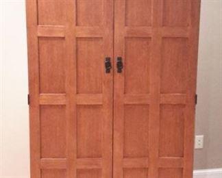 Golden Oak by Whalen Furniture Co. office desk with doors.