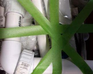 PVC plumbing parts.