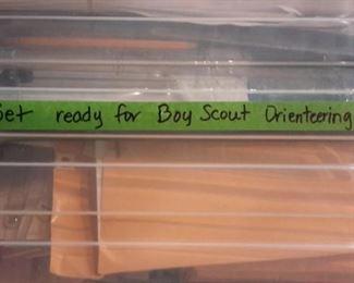 Boy Scout Orienteering materials.