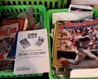 Baseball materials.
