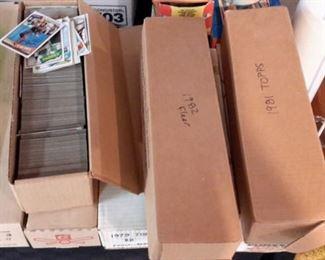Baseball cards, 8 boxes full!