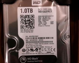 WD 1.0TB Sata hard drive, new in box.