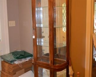 lighted curio - curved sides