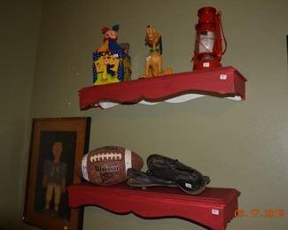 Sports memorabilia - vintage toys - sports decor