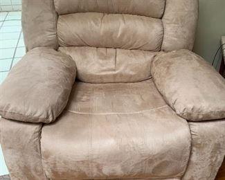 Ultra suede recliner