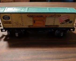 Other box car included in vintage LIONEL set.