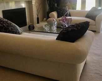 Another view   Custom made sofas. Just change pillows!