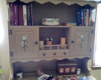 handpainted hutch...great for storage