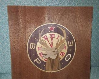 Elks Lodge Wooden Sign