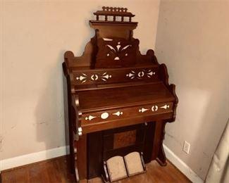 2. Antique Church Style Pump Organ