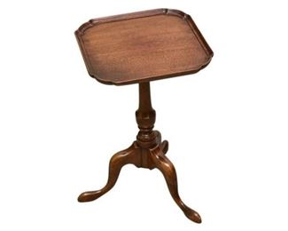 1. Vintage Mahogany Pie Crust Queen Anne Side Table