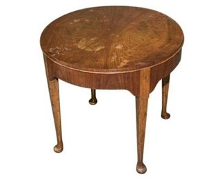 4. Round Mahogany Queen Anne Side Table by Baker