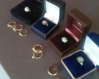 017 Variety of Womens Gold Rings