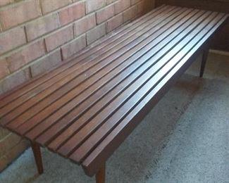16 MidCentury Wooden Bench