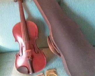43 Vintage Violin and Case