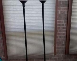 50 Pair of Black Metal Floor Lamps