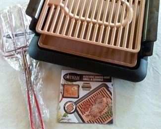 60 Gotham Electric Smokeless Grill, Griddle, and Pitchfork