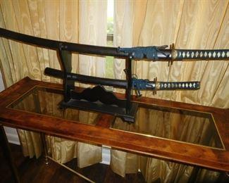 Vintage 2-sword display