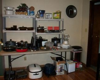 Pots and Pans, Blender, Roaster, Kitchen Items