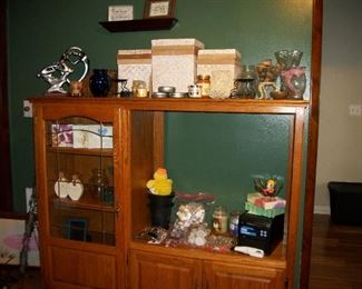 Entertainment Center (SOLD), Candles, Decorations