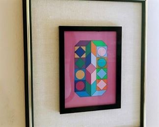 "Victor Vasarely, (1906-1997), Hungarian, 20th Century, Silkscreen, 8""x5"""
