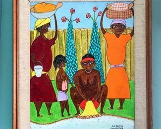 Seymour Etienne Bottex, (1922-2016), Haitian, 20th Century, Oil on panel, 19x16