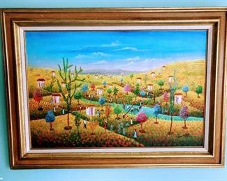 Enim Dostay, Dominican Republic, 20th Century, Untitiled 1982, Oil on canvas,  24x36