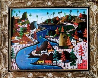 Prefete Duffaut (1932-2012), Haitian, 20th Century, Oil on panel, 20x23