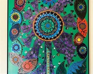 "Nilson Seoane (1930-1987), Brazilian, 20th Century, ""Tree of Life"", 50x40"