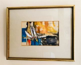 "Baruj Salinas, (b.1938), Cuban, 20th Century, Untitiled, Watercolor on paper, 51/2x8"""