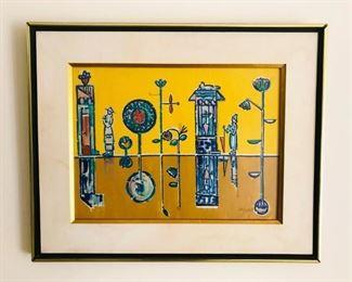 "Jose Maria Mijares, (b.1921), Cuban, 20th Century, ""Reflejos"" 1960, Gouache on paper, 13x18"