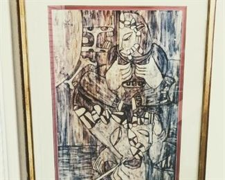 Meyia, 20th Century, Untitled, 1977, Ink on textile, 34x22