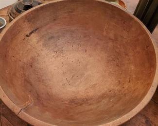 Large 18 inch antique dough bowl