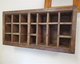 Antique  mail room wall mount  shelf