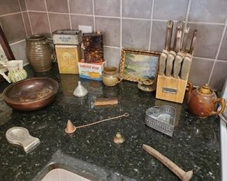 Knife  set and Antiques