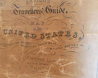 1848 original USA map